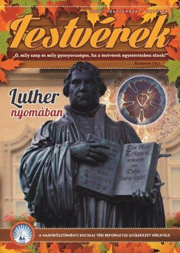 Testvérek Gyülekezeti Hírlevél 2016. szeptember-oktober