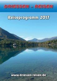 Driessen Reiseprogramm 2017