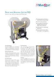 Print and Winding System PWS - MarkIDent GmbH