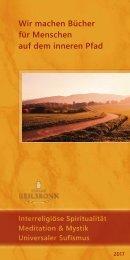 Bücher über Interreligiöse Spiritualität, Meditation und Universaler Sufismus - Verlag Heilbronn 2017