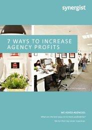 7 WAYS TO INCREASE AGENCY PROFITS