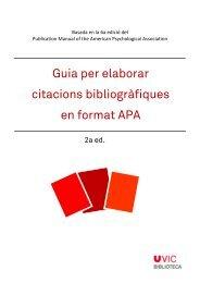 Guia per elaborar citacions bibliogràfiques en format APA