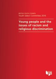 Young people and the issues of racism and religious discrimination