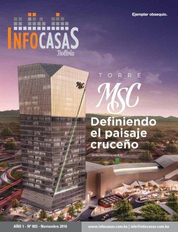 Revista InfoCasas Bolivia - Número 03 - Noviembre 2016
