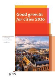 Good growth for cities 2016