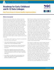 Roadmap for Early Childhood and K–12 Data Linkages