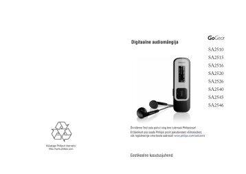 Philips GoGEAR Baladeur MP3 - Mode d'emploi - EST