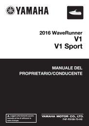 Yamaha V1 - 2016 - Manuale d'Istruzioni Italiano