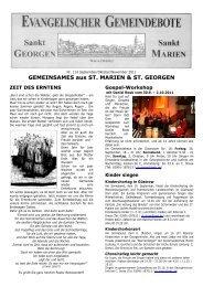 GEMEINSAMES aus ST. MARIEN & ST. GEORGEN - Müritz