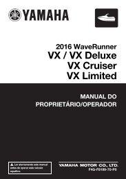 Yamaha VX Cruiser - 2016 - Manuale d'Istruzioni Português