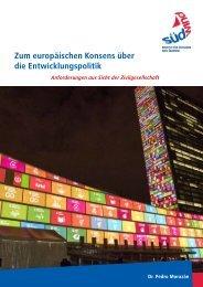 Zum europäischen Konsens über die Entwicklungspolitik