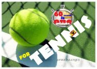 60 SECONDS FOR TENNIS