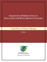 INDIGENOUS PERSPECTIVES EDUCATION WELL-BEING CANADA ESWB Press