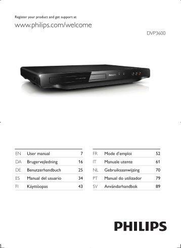 Philips 3000 series Lecteur DVD - Mode d'emploi - DAN