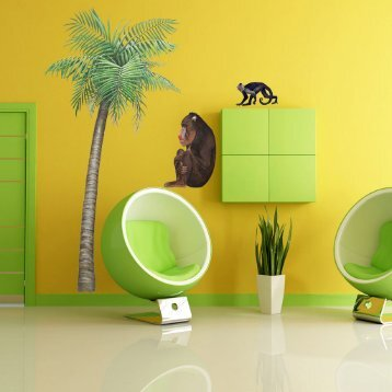 baboon-jungle-animals-wall-decal-sticker-interior