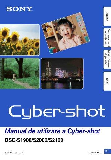 Sony DSC-S1900 - DSC-S1900 Istruzioni per l'uso Rumeno