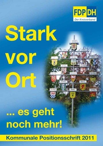 Positionsschrift FDP Kreisverband Diepholz - FDP Twistringen