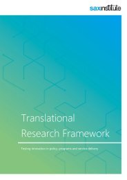 Translational Research Framework