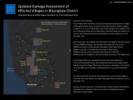Updated Damage Assessment of Affected Villages in Maungdaw District