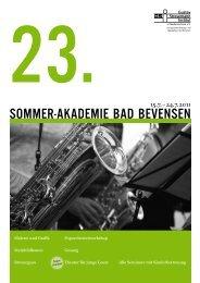 Sommer-AkAdemie BAd BevenSen - Gustav Stresemann Institut ...