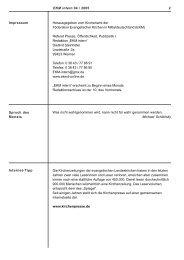 EKM intern 04 / 2005 2 Impressum Herausgegeben vom Kirchenamt ...