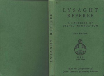 Lysaght Referee. A Handbook of Useful Information 22nd edition