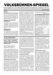 Volksbühnen-Spiegel 2/2003 - Freie Volksbühne Berlin