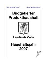Haushalts- satzung - Landkreis Celle