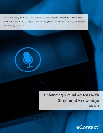 Enhancing Virtual Agents with Structured Knowledge