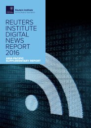 REUTERS INSTITUTE DIGITAL NEWS REPORT 2016