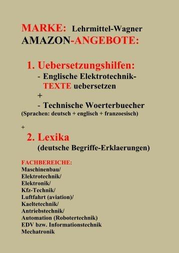 Amazon-Angebote: deutsch-englisch-franzoesisch Technische Woerterbuecher sparen