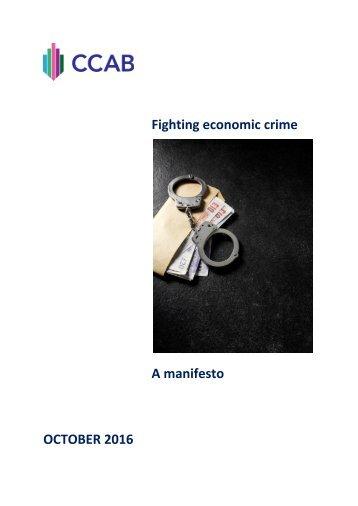 Fighting economic crime A manifesto OCTOBER 2016