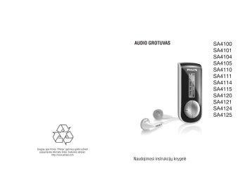 Philips Baladeur audio à mémoire flash - Mode d'emploi - LIT