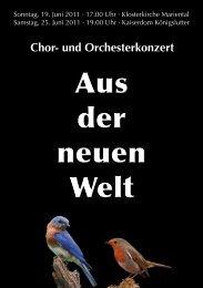 Chor- und Orchesterkonzert - Helmstedter Kammerchor