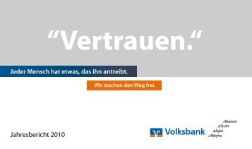 Jahresbericht 2010 - Volksbank eG, Syke