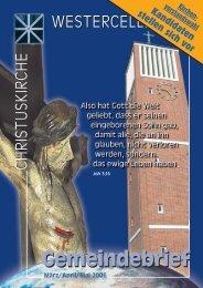 Ausgabe 2006 - Kirchengemeinde Westercelle
