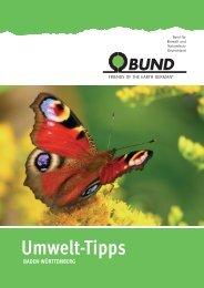 BUND Umwelt-Tipps Ulm/Biberach 2016