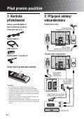 Sony KDL-40V2500 - KDL-40V2500 Istruzioni per l'uso Ceco - Page 4