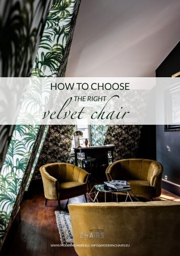 how to choose the right velvet chair