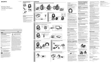 Sony MDR-RF855RK - MDR-RF855RK Istruzioni per l'uso Sloveno