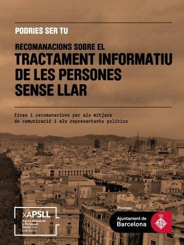 TRACTAMENT INFORMATIU DE LES PERSONES SENSE LLAR