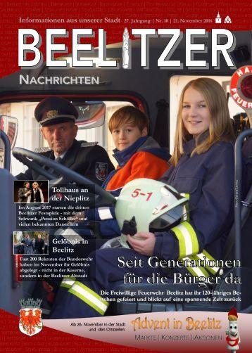 Beelitzer Nachrichten - November 2016