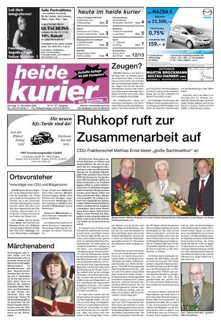 Ruhkopf ruft zur Zusammenarbeit auf Heide Kurier