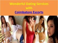 Wonderful Coimbatore Dating Services