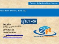 Butadiene Market 2015 - 2021