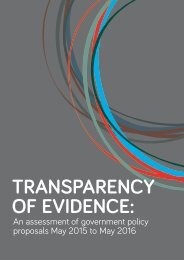 TRANSPARENCY OF EVIDENCE