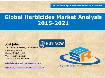Global Herbicides Market Analysis 2015-2021