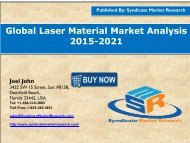 Global Laser Material Market Analysis 2015-2021