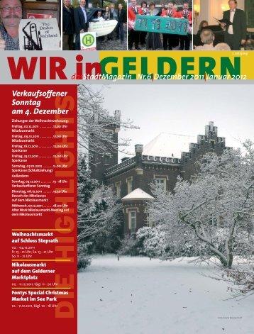 dasStadtMagazin Nr.6|Dezember 2011|Januar 2012 - WIR in Geldern