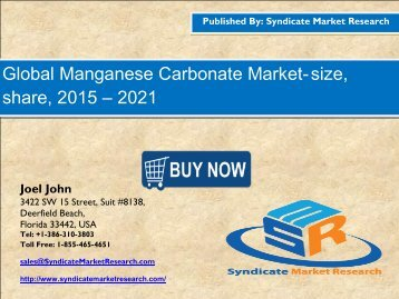 Manganese Carbonate Market
